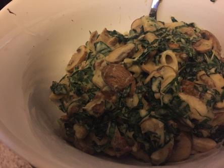 kale mushroom alfredo